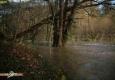Gièze en crue: confluence